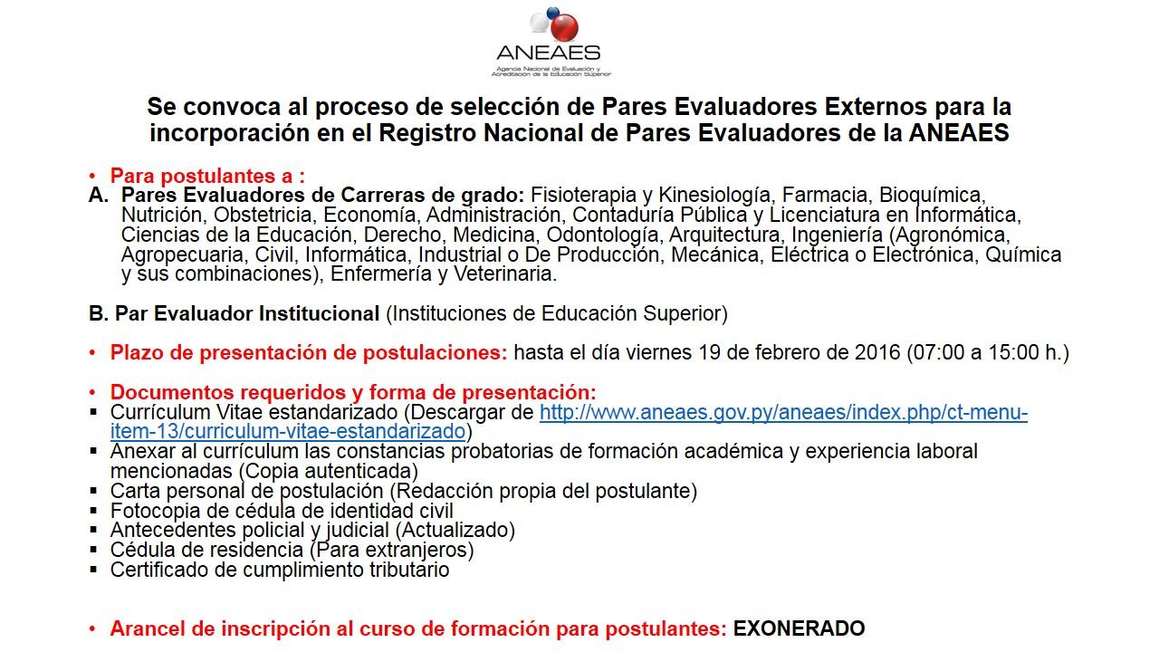 Agencia Nacional de Evaluación y Acreditación de la Educación ...